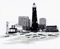 Dungeness Lighthouse Etching Aquatint
