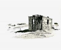 Dungeness Shack Etching Aquatint