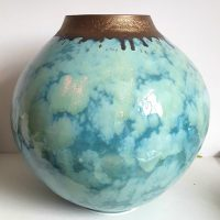Jane Bridger Summer Clouds Moon Jar