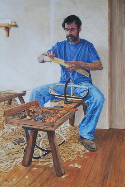 Jeremy-Bear-The-Trug-Maker-acrylic-on-canvas