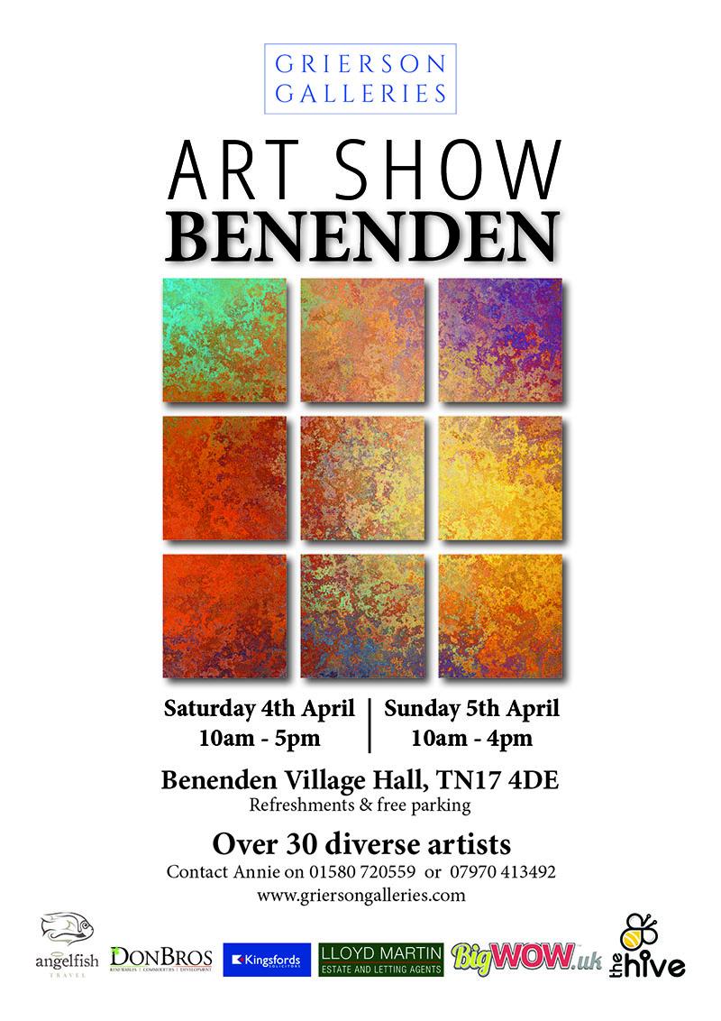 Benenden Art Show poster 2020