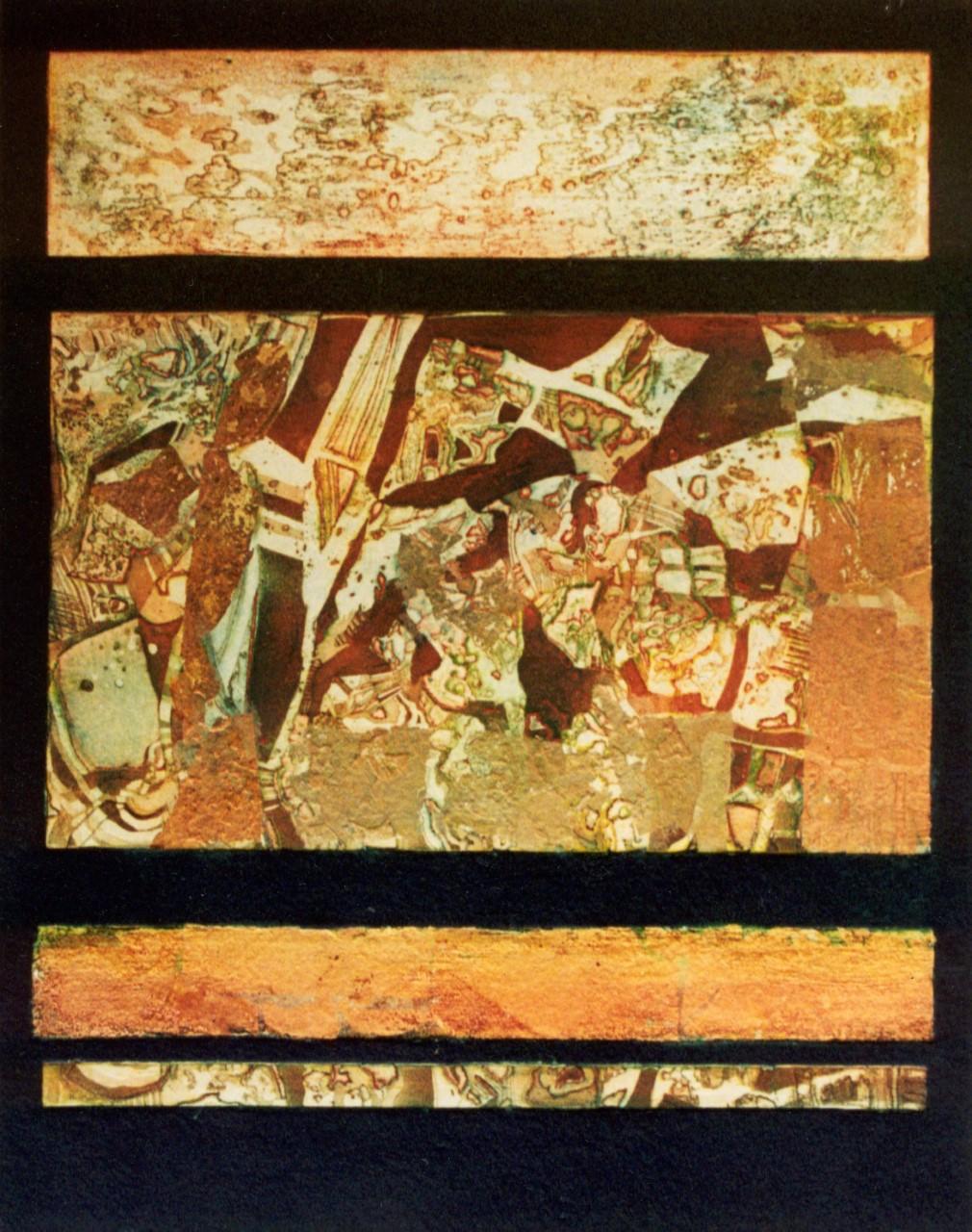Great Gold Metamrphosis I, collaged etching