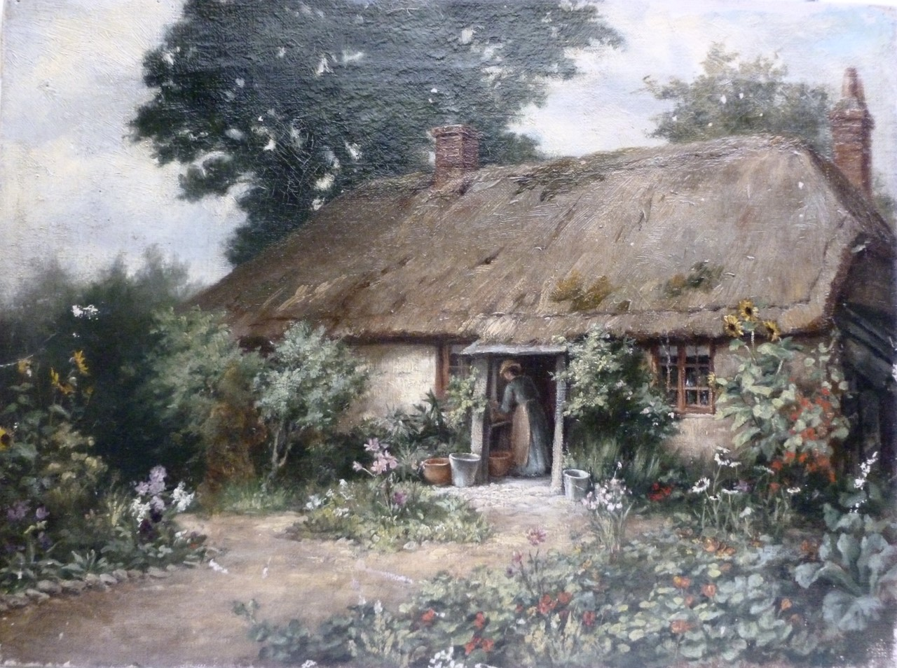 Thatched Cottage - Unknown Artist