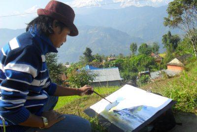 NB-Gurung-Watercolour-Artist