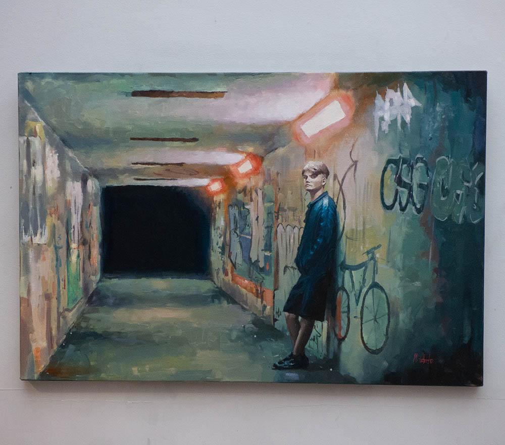 UNDERGROUND by MAX WHITE 50cm x 75cm £850
