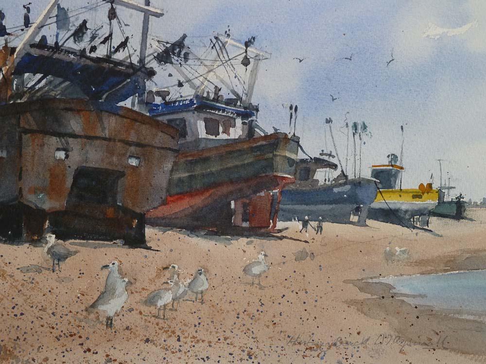 Fishing Boats on Hastings' Foreshore David Aspinall