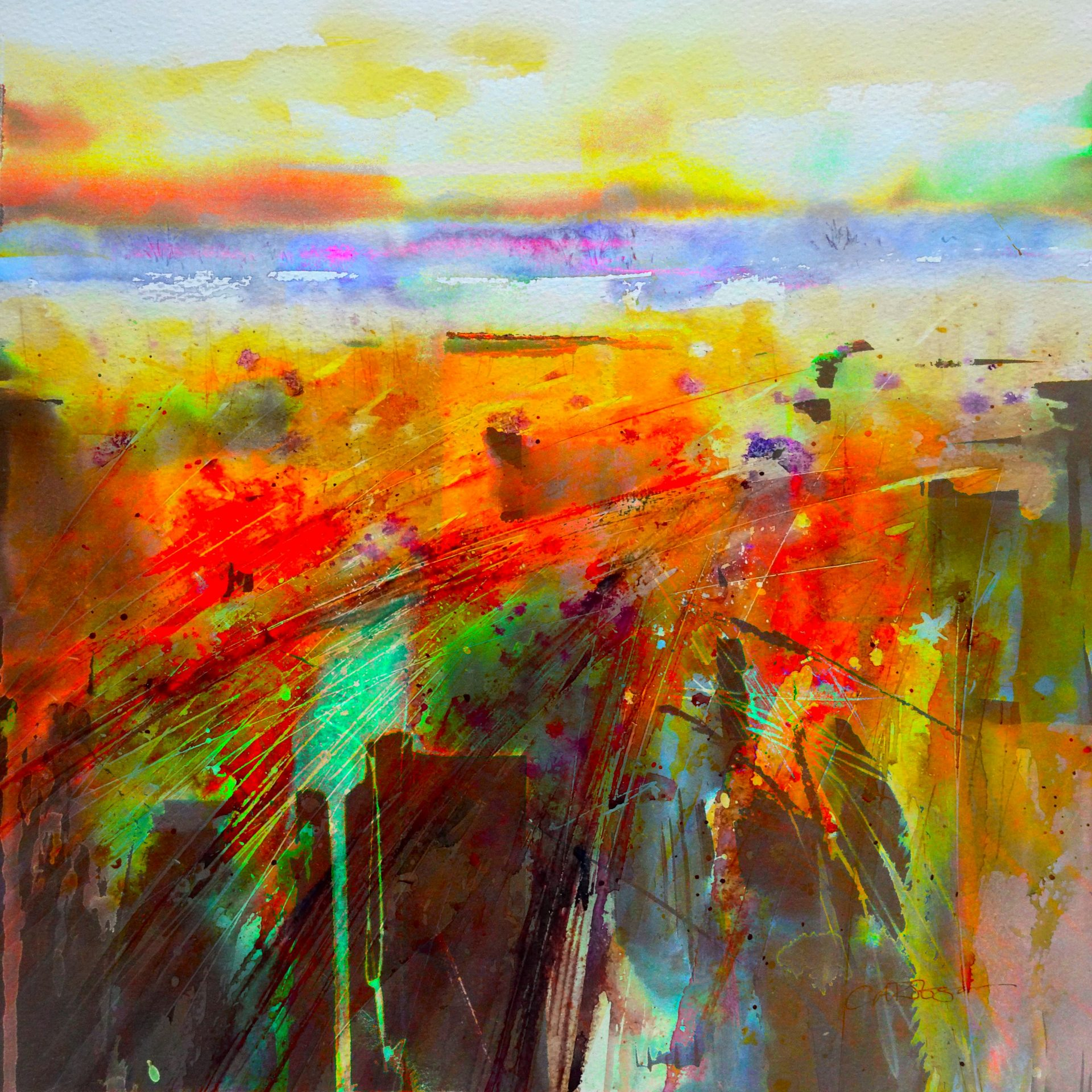 Sienna Landscape by Carole Robson