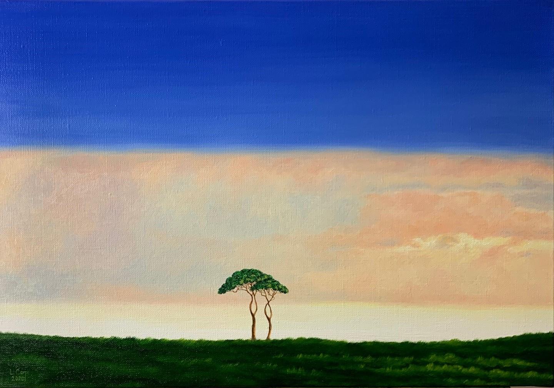 Affinities by Leonora Carpr Oil on Canvas 35 x 55cm £1400