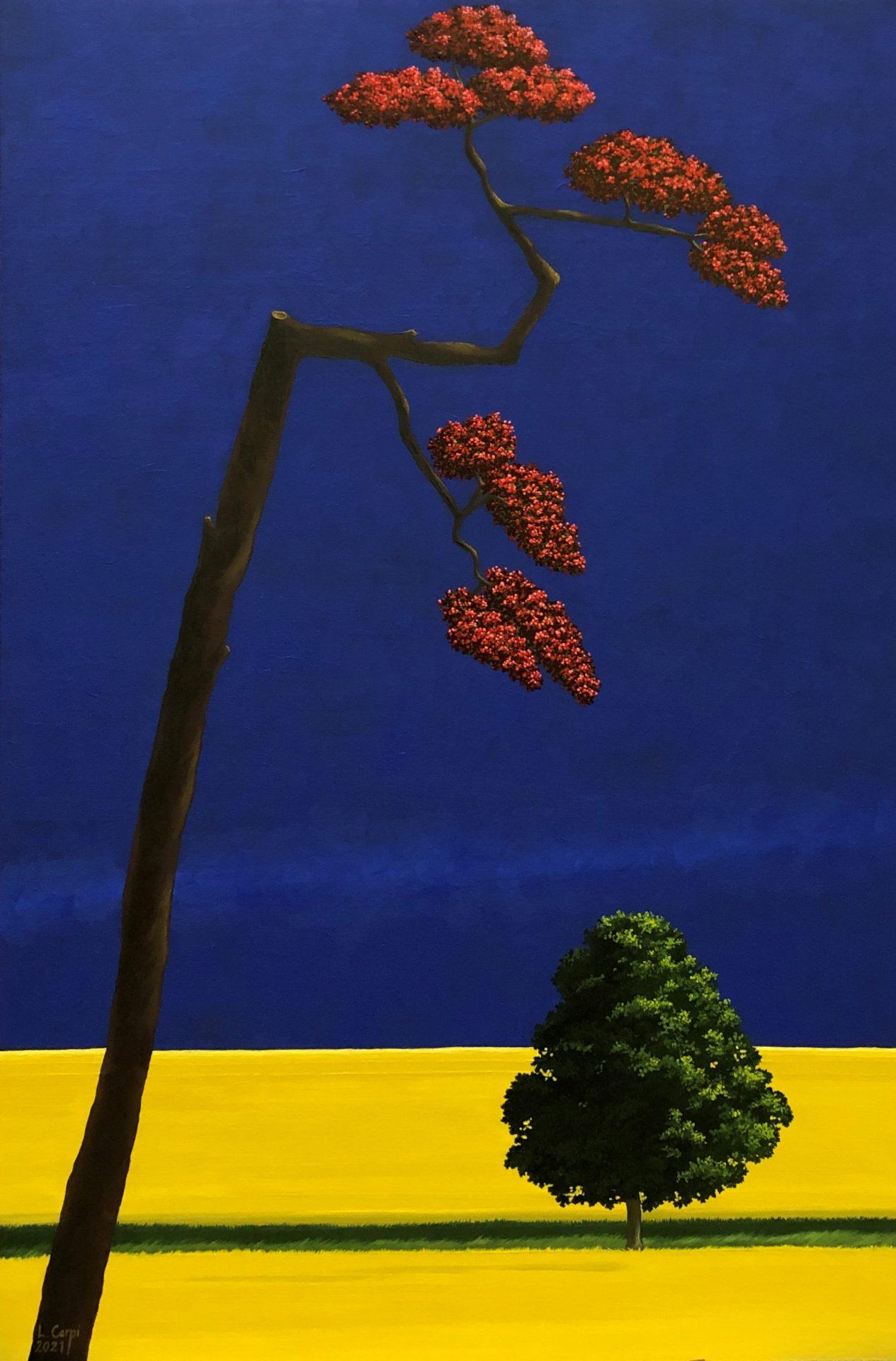 Strutting by Leonora Carpi Oil on Wood 60 x 40cm £1200