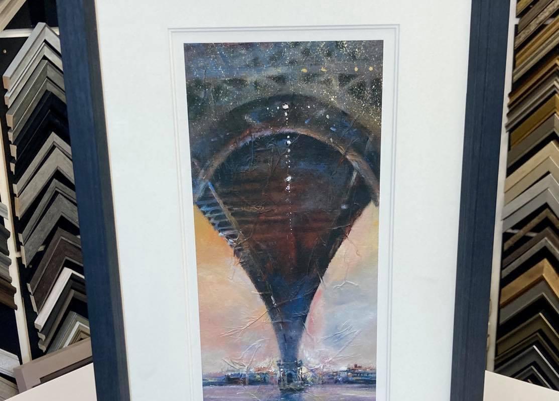 Brooklyn Bridge framed Giclee Print by NB Gurung